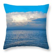 Storm Over Whitefish Bay Throw Pillow