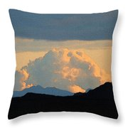 Storm Passing By Throw Pillow