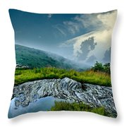 Storm Rolling In On Black Balsom Throw Pillow