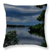 Storm Rolling Over Lake Wausau Throw Pillow
