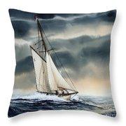 Storm Sailing Throw Pillow by James Williamson