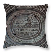 Storm Sewer  Throw Pillow