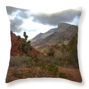 Storm Threatening Throw Pillow