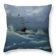 Storm Tossed Throw Pillow
