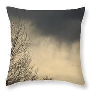 Storm Virga Over Rogue Valley Throw Pillow