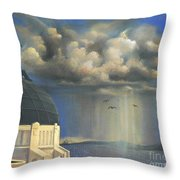 Storm Watch At Griffith's Throw Pillow