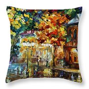 Storming Night Throw Pillow