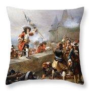 Storming The Battlements Throw Pillow