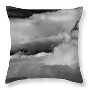 Storms Aloft B W Throw Pillow