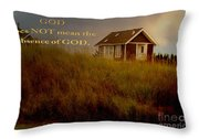 Storms Of Life Throw Pillow by Beverly Guilliams