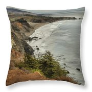 Storms Over A Rugged Coast Throw Pillow