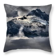 Storms Over Jagged Peaks Throw Pillow