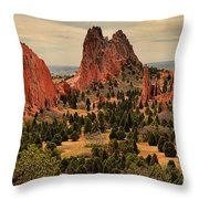Storms Passing Over The Garden Throw Pillow