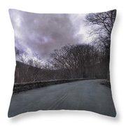 Stormy Blue Ridge Parkway Throw Pillow