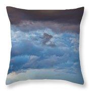 Stormy Blues - Casper Wyoming Throw Pillow