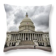 Stormy Capitol Day II Throw Pillow