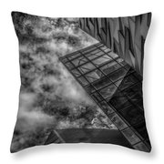 Stormy Clouds Over Modern Building Throw Pillow