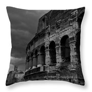 Stormy Colosseum Throw Pillow