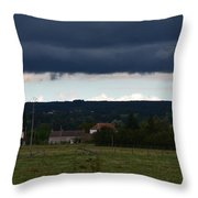 Stormy Countryside Throw Pillow