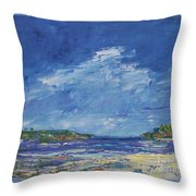 Stormy Day At Picnic Island Throw Pillow