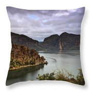 Stormy Day At The Lake  Throw Pillow