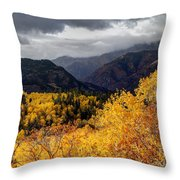Stormy Fall Along The Alpine Loop - Utah Throw Pillow