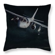 Stormy Flight Throw Pillow