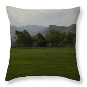 Stormy Golden Colorado Throw Pillow