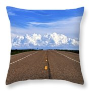 Stormy Highway Throw Pillow