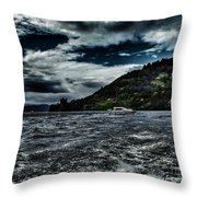 Stormy Loch Ness Throw Pillow