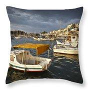 Stormy Mikrolimano Throw Pillow