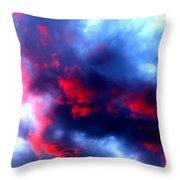 Stormy Monday Blues Throw Pillow