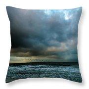 Stormy Monday Throw Pillow
