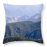 Stormy Pikes Peak Throw Pillow