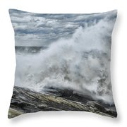 Stormy Seas Throw Pillow