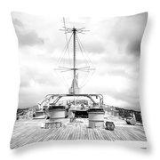 Stormy Ship Throw Pillow