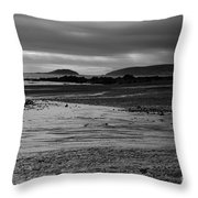Stormy Skies At Seaton Sands Throw Pillow
