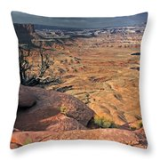 Stormy Skies In Canyonlands Throw Pillow
