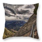 Stormy Skies On Moro Rock Throw Pillow