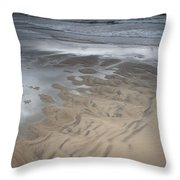 Stormy Skies Over The North Sea Throw Pillow