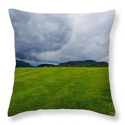 Stormy Sky Above Castlerigg Stone Circle Throw Pillow