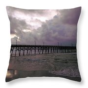 Stormy Sky In Myrtle Beach Throw Pillow
