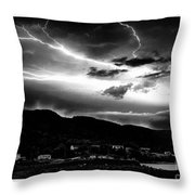 Stormy Sky - Lightening - Small Town Throw Pillow