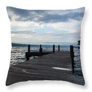 Stormy Sky Over Seneca Lake Throw Pillow