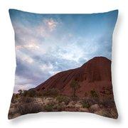 Stormy Sky Over Uluru Throw Pillow