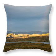 Stormy Sky With Rays Of Sunshine Throw Pillow