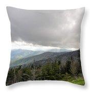 Stormy Smoky Mountains Throw Pillow