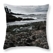 Stormy South Beach Throw Pillow