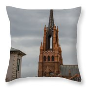 Stormy Steeple Throw Pillow