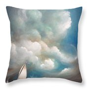 Stormy Sunday Throw Pillow